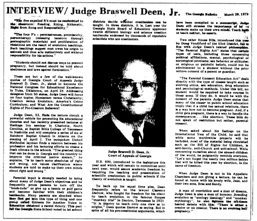 Interview: Judge Braswell Deen, Jr.